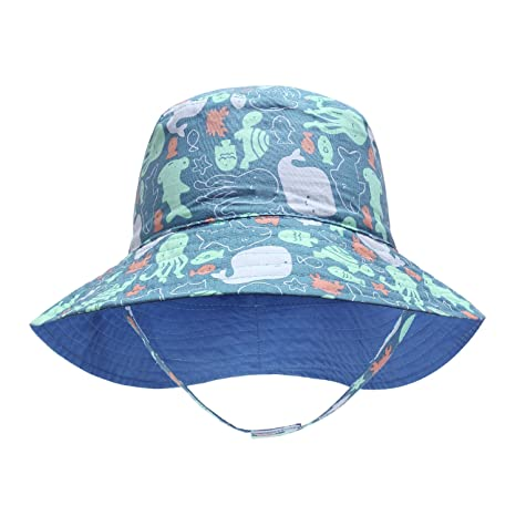 a8522b0e090 Baby Boy Summer Hats Toddler boy Bucket hat Sun Hats 0-8years Old (50cm(19.6in  Head Circumference) 1-2Y