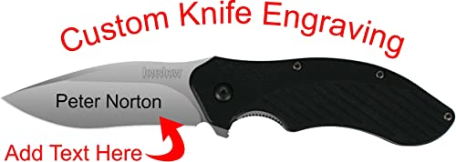 Kershaw Clash Custom Laser Engraved Knife 1605
