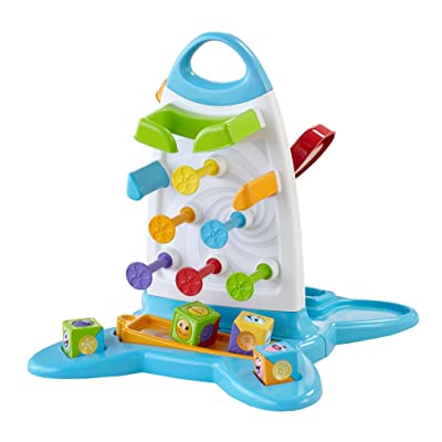 Fisher-Price Roller Blocks Play Wall: Toys & Games