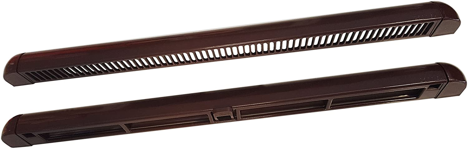 HIGH QUALITY UPVC TRICKLE VENT NIGHT VENT BROWN  300MM OR 400MM LONG