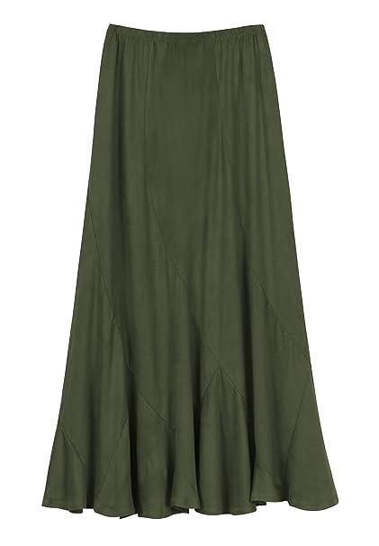 fded4094cda Urban CoCo Women s Vintage Elastic Waist A-Line Long Midi Skirt at ...