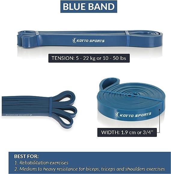 Bandas elásticas para dominadas (pull-ups) – 6 niveles, 1 – 80 kg de resistencia, 104 cm. Bandas elásticas de entrenamiento para dominadas (pull-ups), estiramientos y levantamiento de pesas: Amazon.es: Deportes y aire libre