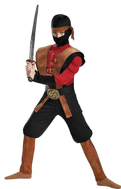 Amazon.com: Boys Ninja Warrior Muscle Theme Outfit Child ...