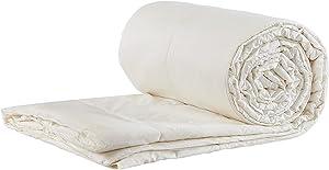 Sleep and Beyond Wool Comforter, 100% Natural Machine Washable Wool Comforter, King, 102x90in