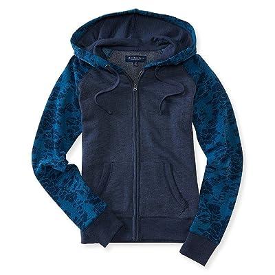 3b8bb8e23 Aeropostale Womens Floral Hoodie Sweatshirt