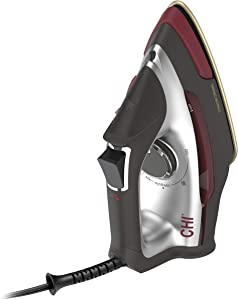 CHI Steam CHI 2-in-1 Steam Iron and Vertical Garment Steamer with Targeted SteamShot for Clothes with Titanium Infused Soleplate, 1200 Watts, 10' Cord (13108)