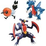 Tomy Pokémon - T18379 - Figurine Manga - Carchacrok, Carmache, Passerouge - Pack de 3