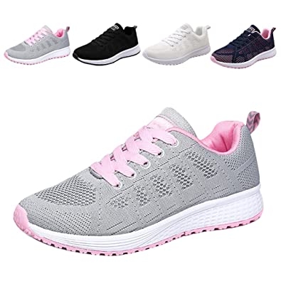 323c0a4680375 Womens Walking Hiking Sneakers Sports Tennis Shoes Breathable Athletic  Running Shoes Lace Up Sneaker Sport Fitness