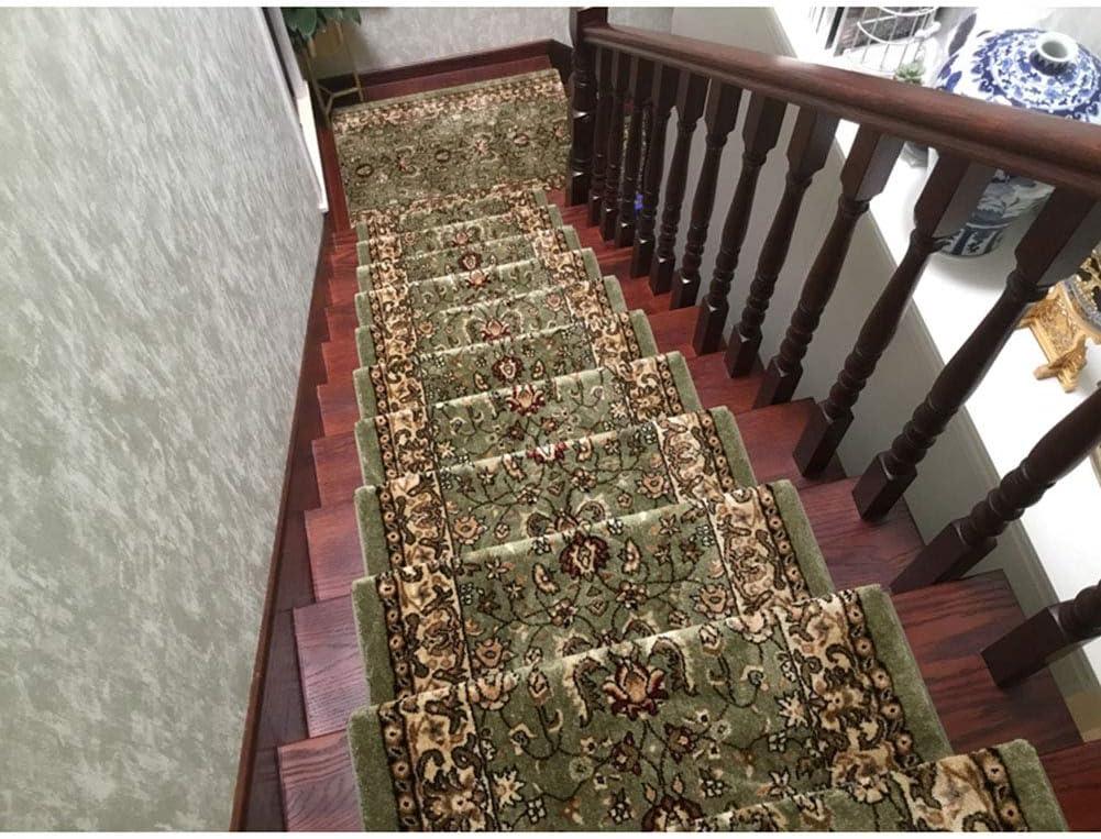 Manta de la banda de rodadura de la escalera/alfombra de la escalera/manta antideslizante de la escalera/alfombra verde de la escalera/pegamento-auto-cebado/la alfombra de la escalera (65 * 24cm): Amazon.es: Hogar