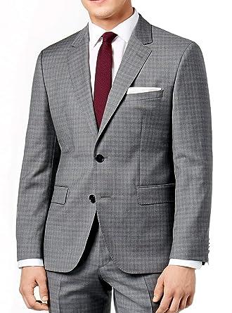 457ac89e1 Hugo Boss Men's Charcoal Extra Slim Fit 2 Piece Luxurious Business Wool Suit  C-Jeffrey