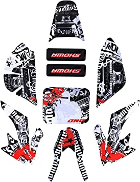 Style 1 ZXTDR Complete Sticker Decal Graphics Fairing Kit for CRF50 PIT PRO Dirt Bike Thumpstar SSR