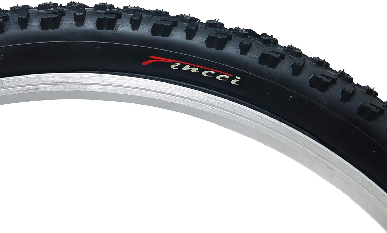 Fincci 26 x 1,95 Pouces 52-559 Pneu avec Protection Antiponcture Anti-Crevaison 2.5mm 60TPI pour VTT Montagne Hybrid V/élo Bicyclette