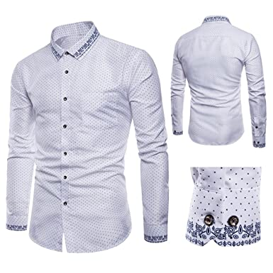 Amazon.com: Alluing Traje formal casual para hombre de manga ...