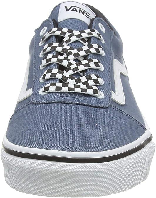 3 NWOB Details about  /Vans Little Kid Boy Blue// White Winter Felt Suede Ward Sneaker US 2