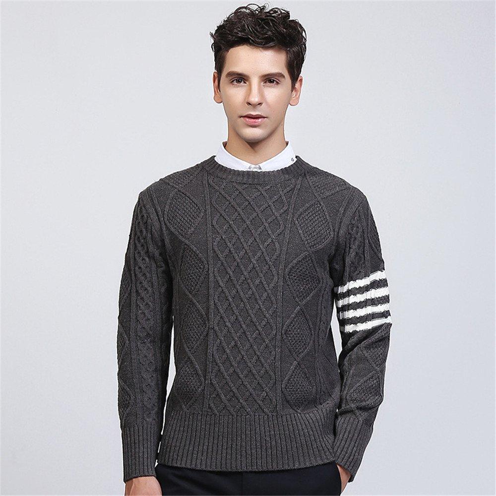 Jdfosvm männer sind männer Pullover Pullover ärmel Kopf Young British Style Pullover,Grau,L