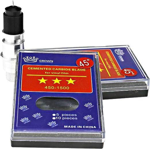 ENET 10pcs 45 ° Soporte de Hoja localizador Vinilo localizador Cutter Plotter Cuchillo Hojas para CB09 Graphtec Roland localizador de Corte: Amazon.es: Hogar