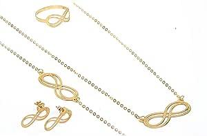 Pure Gold 18K Infinity Set