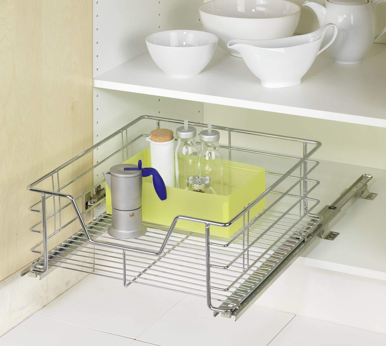 Wenko 5911500 - Cesto extraíble para armarios de cocina (tamaño grande): Amazon.es: Hogar