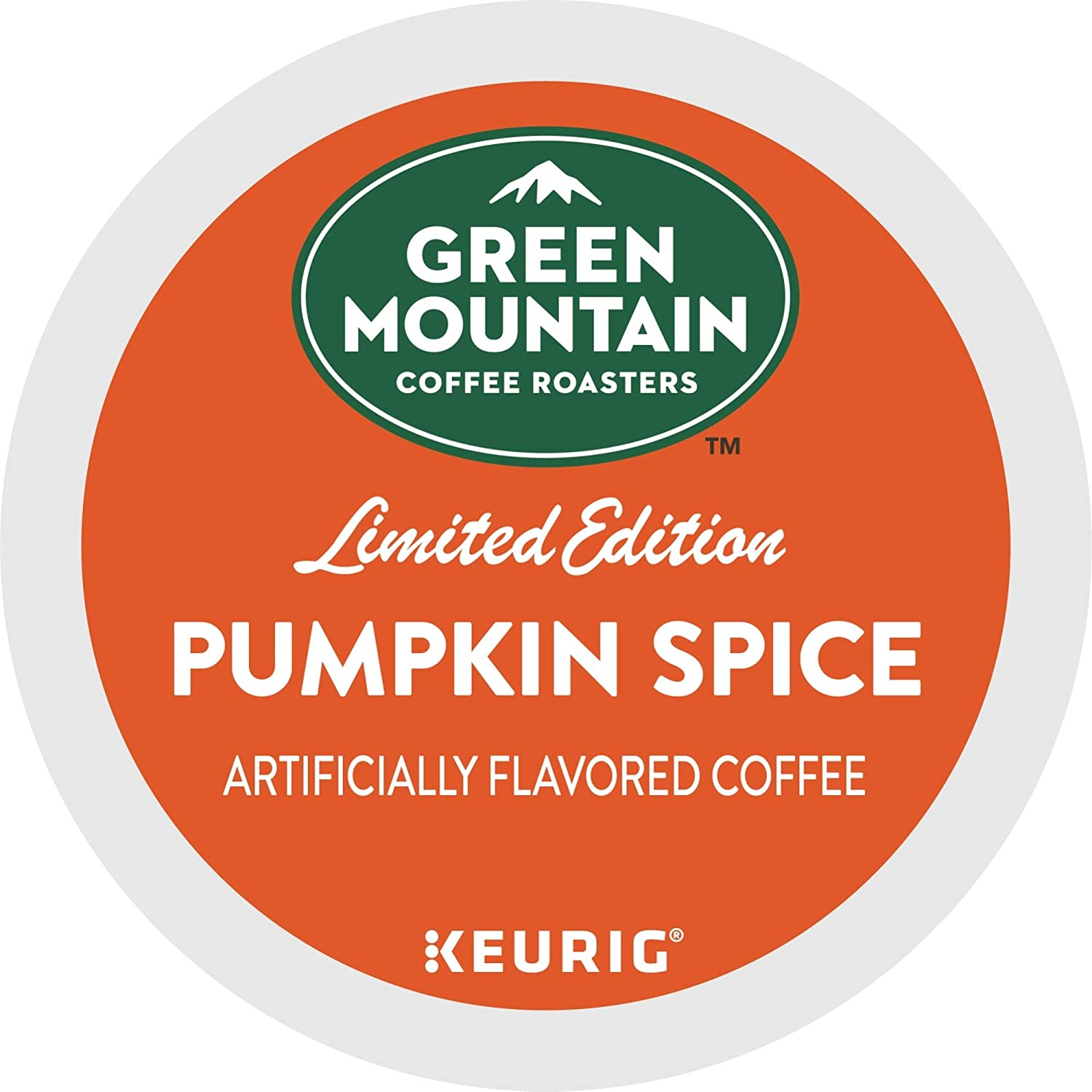 Green Mountain Coffee Roasters Pumpkin Spice Keurig Single-Serve K-Cup Pods, Light Roast Coffee, 72 Count