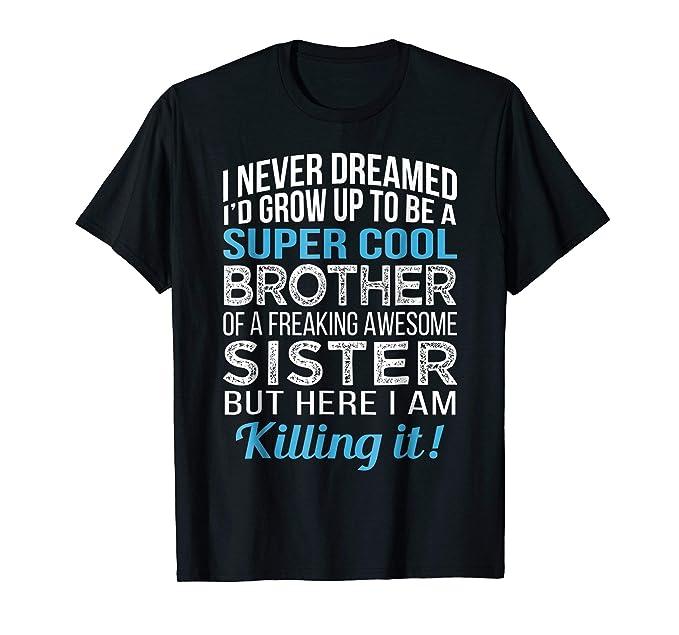 Mens Super Cool Brother Shirt Funny Birthday Gift 2XL Black