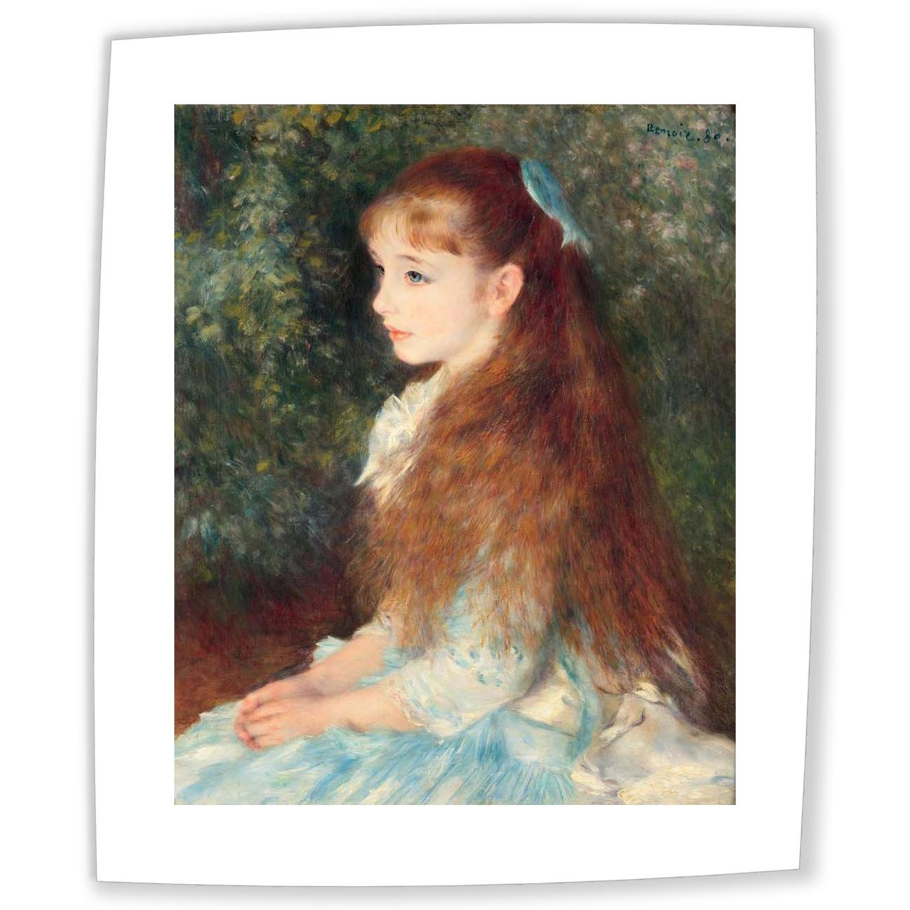 Pierre-Auguste Renoir 印象派 キャンバス 油絵 イレーヌカーンダンヴェール嬢の肖像Portrait of Mademoiselle Irene Cahen d'Anvers 1880 肖像複製画 木枠なし 50X60cm 完全に立体に複製 3D 印刷 美術品 部屋 壁飾り B07CZZT2HRPortrait of Mademoiselle Irene Cahen d'Anvers 1880 50X60 cm (approx. 20X24 inch)