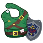 Bumkins Baby Bib, Nintendo Waterproof SuperBib with Cape, Zelda (6-24 Months)