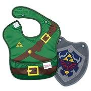 Bumkins Baby Bib, Nintendo Waterproof SuperBib with Cape, Zelda (6-24 Months)