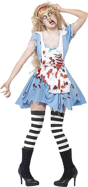 Blue Women's Zombie Malice Fancy Dress Costume.