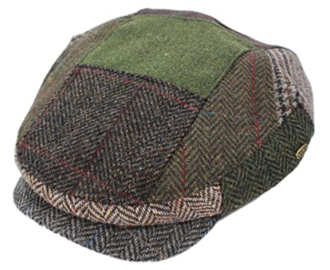 Mucros Men s Driving Cap Patchwork 100% Wool Made in Ireland Small ... 6ff8071723b