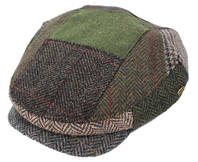 Mucros Men s Driving Cap Patchwork 100% Wool Made in Ireland Small ... 06253eb7e0c3