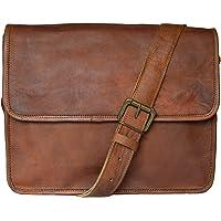 Madosh, Genuine Brown Cross Body Vintage Flap Over Leather Messenger Shoulder Bag