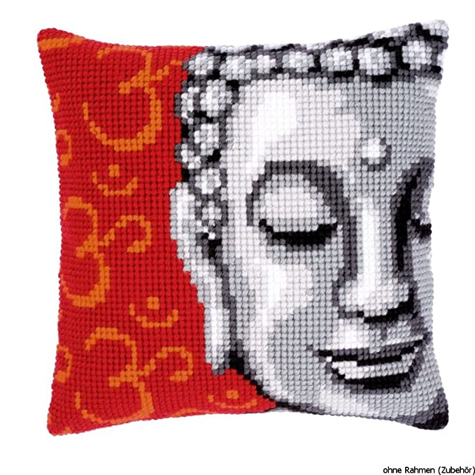 Amazon.com: Vervaco Buddha Cushion Front Chunky Cross Stitch Kit