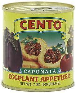 Cento - Imported Italian Eggplant Caponata, (4)- 7 oz. Cans