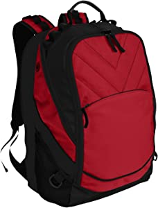 Port Authority Xcape Computer Backpack OSFA Chili Red/ Black