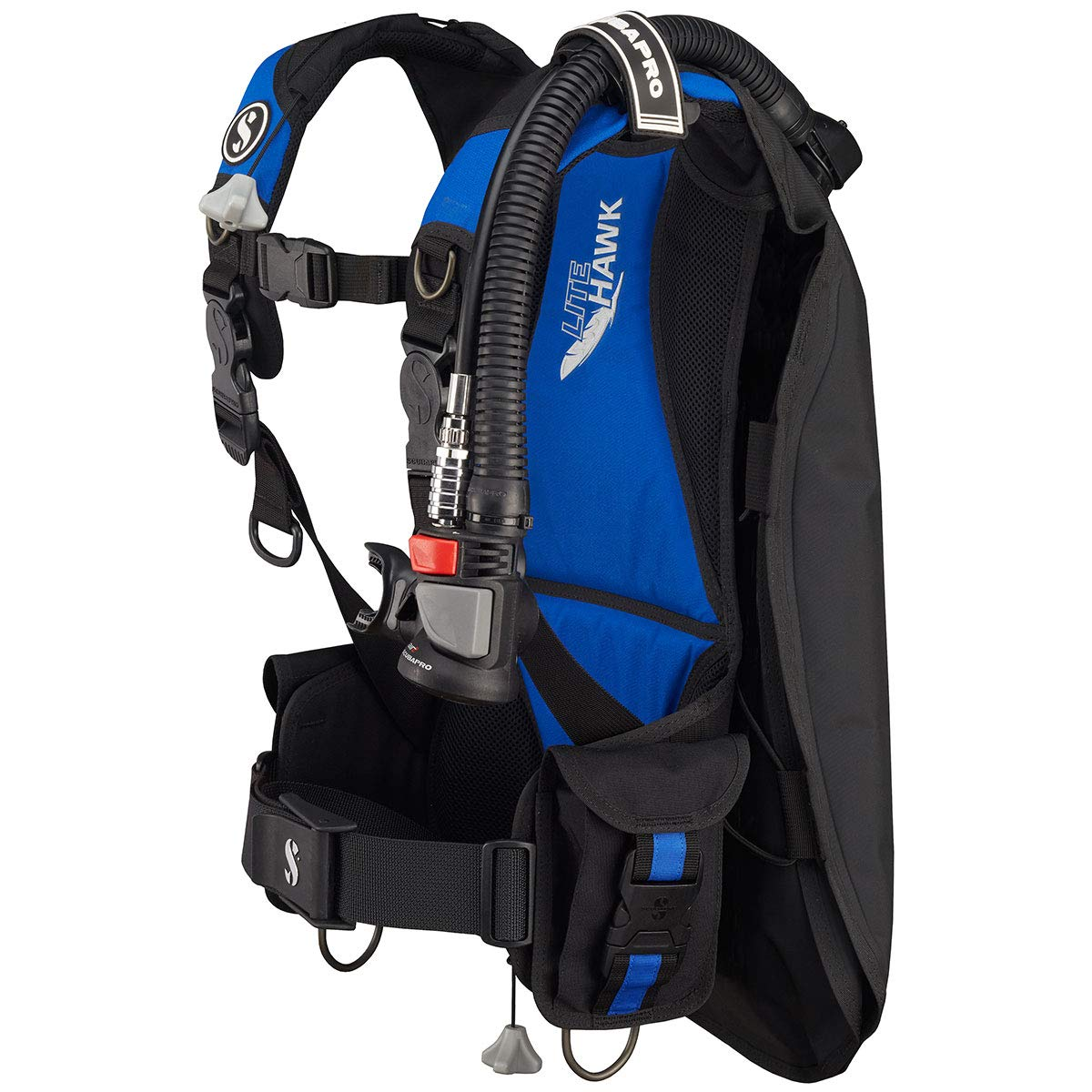 Scubapro Litehawk BCD with Air 2 (Medium/Large, Black/Blue)