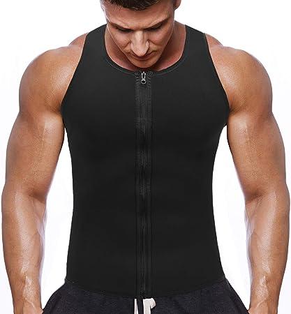 eefa753a HOPLYNN Men Waist Trainer Vest for Weightloss, Hot Neoprene Corset  Compression Sweat Vest Body Shaper