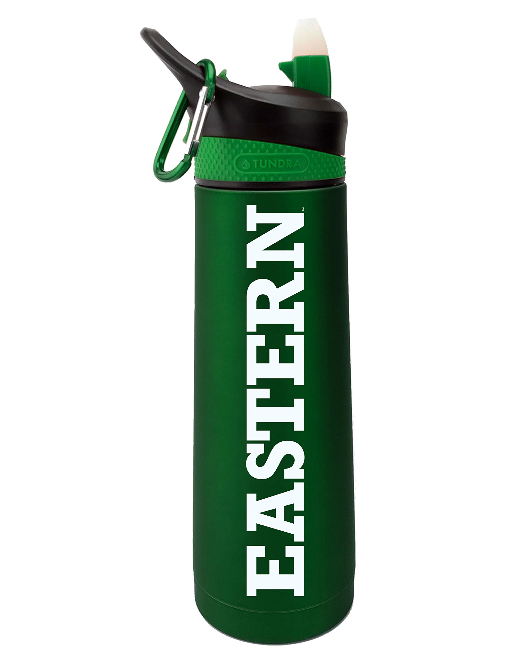 Fanatic Group Eastern Michigan University Dual Walled Stainless Steel Sports Bottle, Design 1 - Green