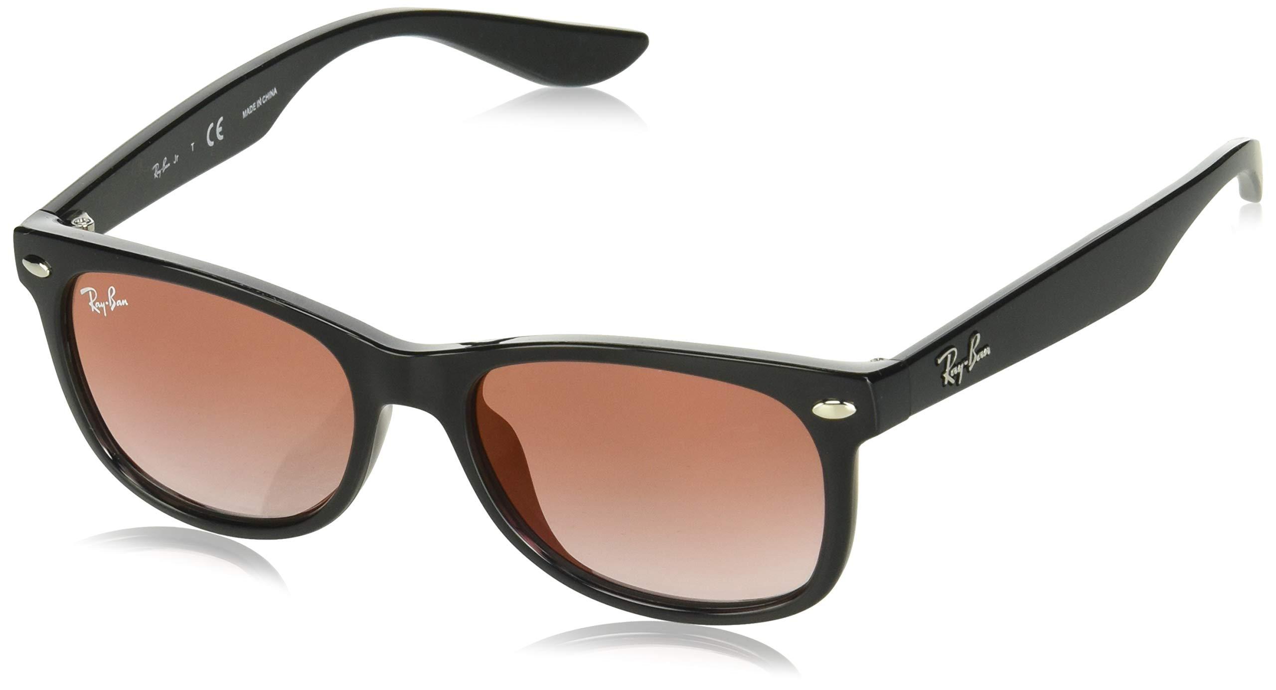 Ray-Ban Junior Kids' 0rj9052s Iridium Square Sunglasses BLACK 47 mm