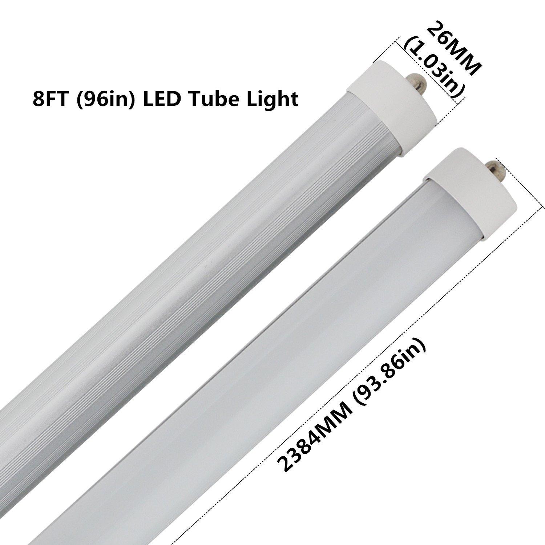 CNSUNWAY 8ft 45 Watt T8 LED Tube, 96\