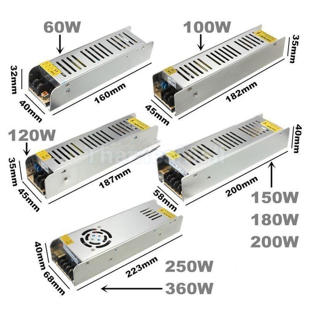 12v Powersupply 120w 10a Transformer For Led Strip Module Driver Circuit Lighting Transformere Ip20 Ac 240v
