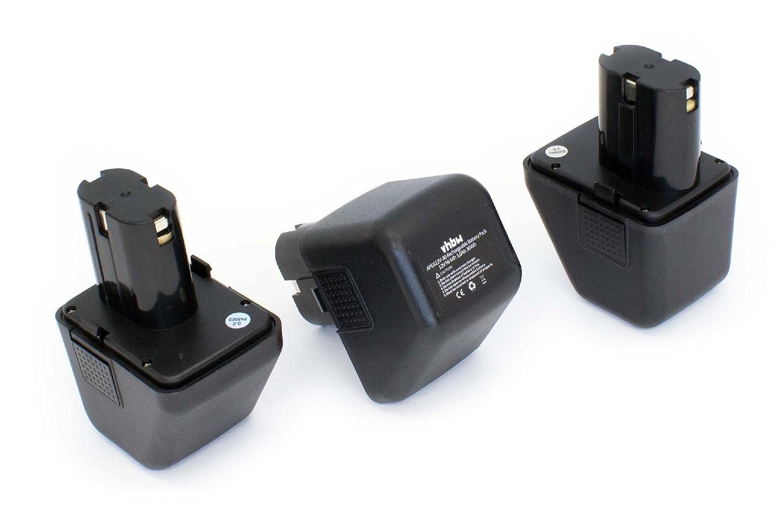 vhbw 3 x NiMH Akku 3000mAh (12V) für Elektro Werkzeug Gesipa Firebird wie 70291510061.