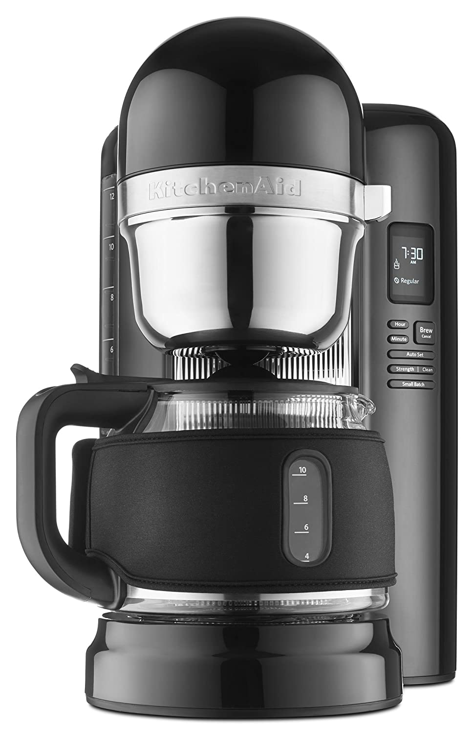 KitchenAid KCMB1204BOB 12-Cup Coffee Maker with One Touch Brewing with Black Thermal Sleeve - Onyx Black