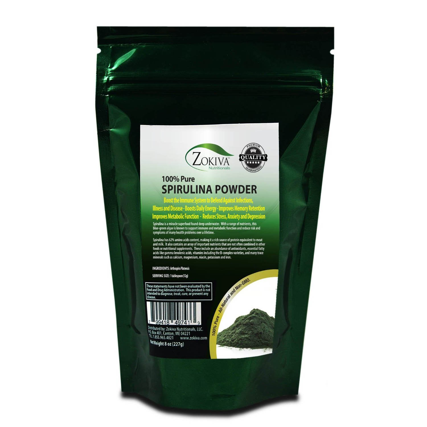 Amazon Com Chlorella Powder 8oz Cracked Cell Raw 100