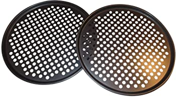 Maxi Nature Kitchenware Pack of 2 Pizza Pans with holes