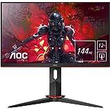 "AOC 24G2U/BK Monitor Gaming de 24"" Full HD e-Sports (IPS, 1ms, AMD FreeSync, 144Hz, Sin Marco, Ajustable en altura y…"
