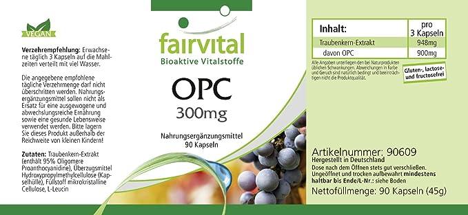 OPC cápsulas 300mg - VEGANO - Altamente dosificado - 90 ...