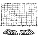 MICTUNING Cargo Net 5x7 Feet Heavy Duty Truck Bed Bungee Nets Stretches to 10x14 Feet with 16pcs D Shape Aluminum…