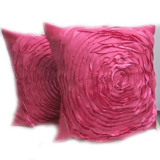 Thaimart Pillow Asia Lampoon un par Rosas Manta cojín/Funda ...