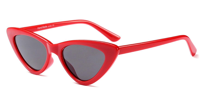 5a80fc64ec Amazon.com  COOCOl black cat eye sunglasses women brand designer 2018 cheap  white red sun glasses for women retro uv400 as shown in photo  Clothing