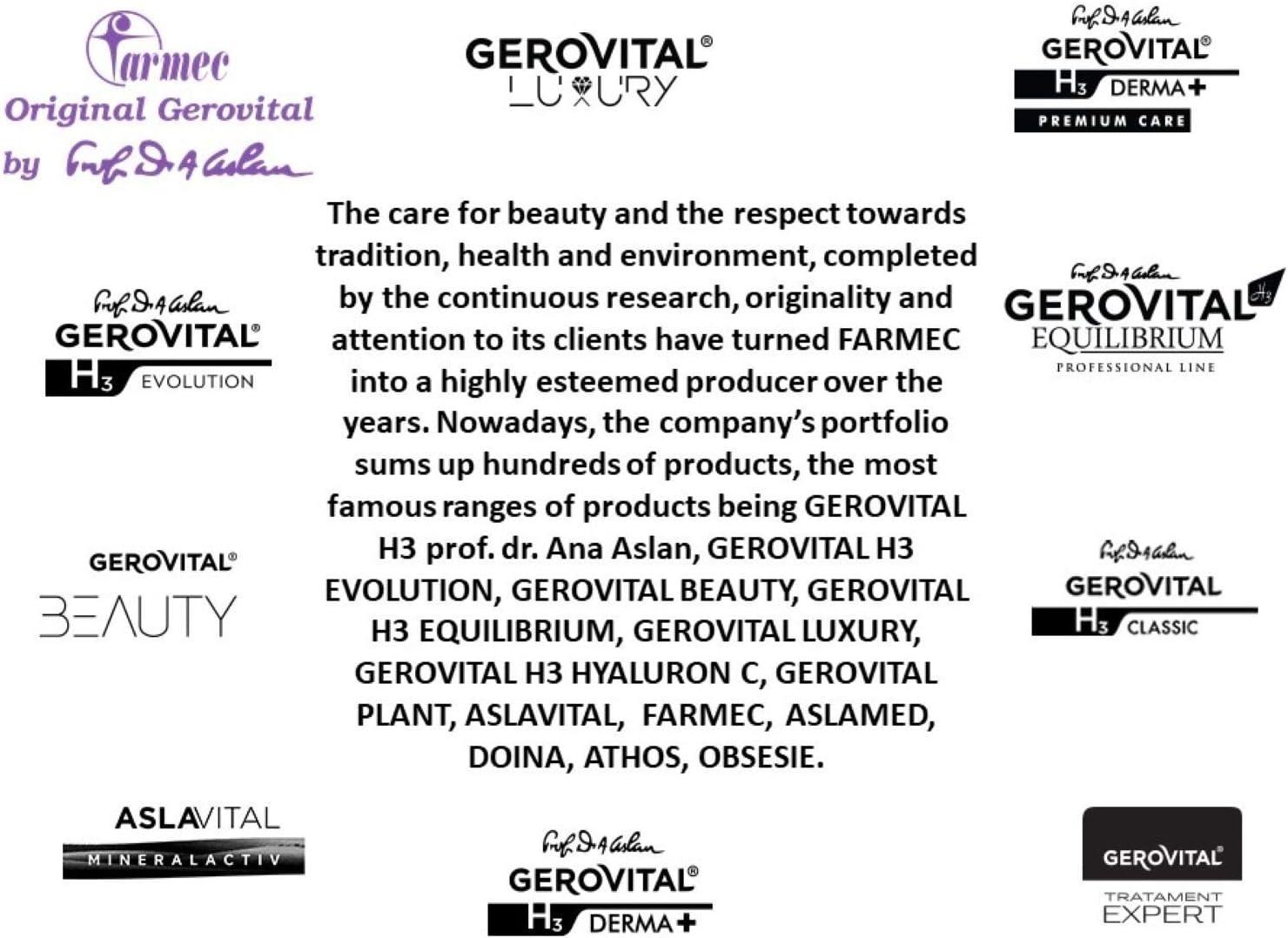 Gerovital H3 Derma +, Tratamiento Anticaída, Cuidado del cabello anti-caída, 12 viales x 10 ml